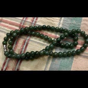 "Certified Grade A Jade green necklace 22"""